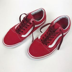 Red Vans Old School 8.5 Women's 7.5 Men's